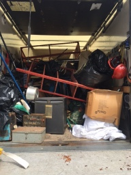 Van full of house hold junk