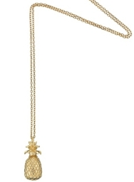 Gold Plated Pineapple Charm Necklace from Estella Bartlett