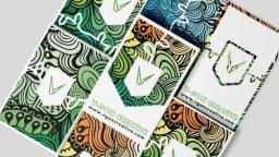 V-GON Creative vegan design and branding agency Business Card Design