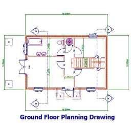 Ground floor planning drawing