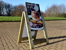 Rustic A-Board Changeable Panels Exclusive to HFE Signs