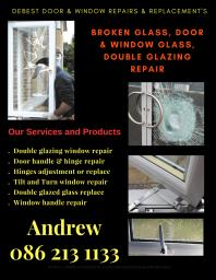 Windows fixed doors repaired locks handles hinges