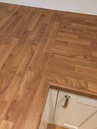 Laminate oak worktop