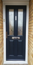 Blue Composite Door with Kara Grey Glass