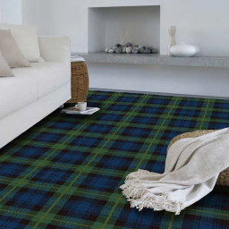 TARTAN 4M GORDON REGIMENTAL CARPET by HUGH MACKAY