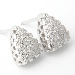 Platinum Pave Set Diamond Earrings