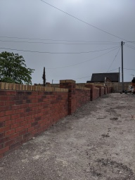 Brick wall built for a happy customer