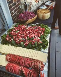 Flame BBQ fresh and colourful salads for Hog Roast