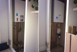 Before and after boiler installation
