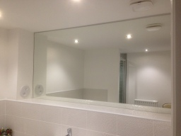 Mirrors supplied and fitted