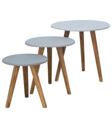 Hand painted scandinavian stool