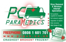 Pc Paramedics Business Card