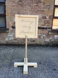 Bespoke Wedding Sign Created for Kedleston Hall