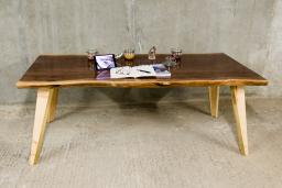 Walnut & Brass Dining Table   KODA STUDIOS