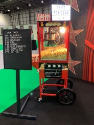 Popcorn Machine hire with attendant and branding