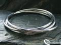 925 Sterling Silver Russian Bangle Bracelet by Silver Nomad Jewellery UK