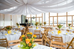 Yellow coloured wedding dinner 3