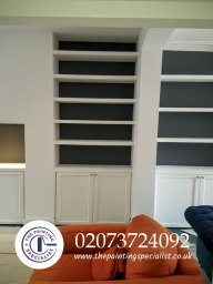 Painted Shelving Units in London