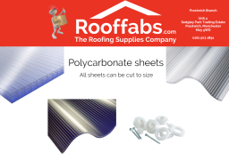 Wide range of Polycarbonate Sheets