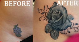 Rose Tattoo Cover Up London Blue Lady Tattoo