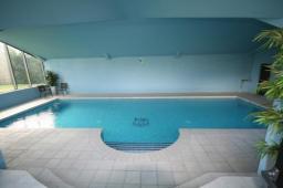 SPATA award winning indoor pool with West Ham mosaic logo
