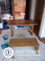 Sanded & Polished Table in London