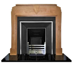 Art Deco solid Oak Mantelpiece made to order