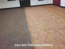 Part way through floor sanding
