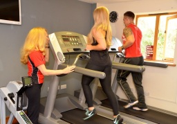 workout at a gym in East Lancashire