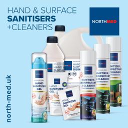 NorthMed UK Full Sanitizer Product Range