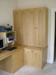 Hand made fitted study/office furniture example