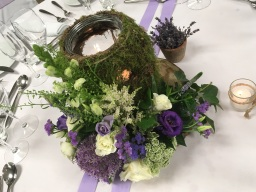 Wedding Table Centres by Flower Design, Ripon.