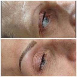 semi permanent make up eyebrows before and after