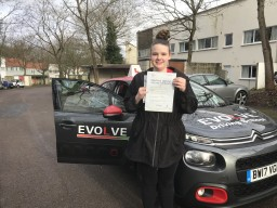 Zara Lynch first time pass