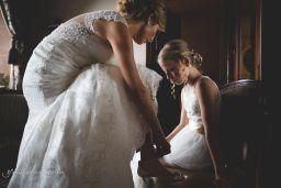 classic and stylish bridal preparations Peckforton