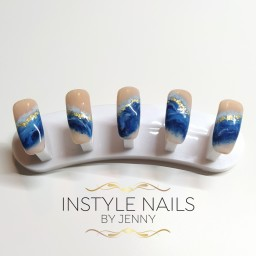 Hand Painted Waves