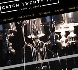 Catch 22 Club Lounge Website