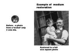 original 2cms dia 'locket' photo restored to full size
