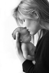 Mum and newborn baby photography