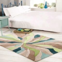 Infinite Splinter Teal Green Rug By Flair Rugs
