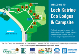 Loch Katrine Eco Camp Sign by G3 Creative in Glasg