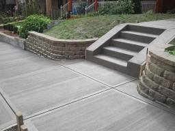 Imprinted Concrete with broom finish