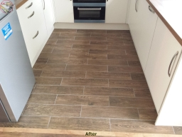 Tiling kitchen floor