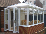 Conservatory installed onto bungalow in Felixstowe