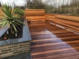 Hardwood decked areas