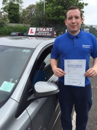 Passed 1st time in Mitcham