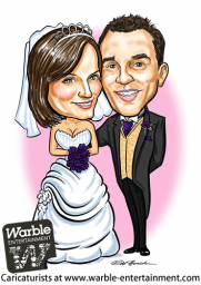 Book a Caricaturist at Warble Entertainment