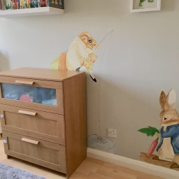 Peter Rabbit mural - baby nursery