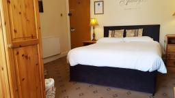 Standard ensuite room 4 with tudor style building views as well as overlooking our garden at our B&B in Chester.