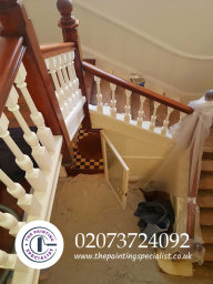Large Banister Painted in London